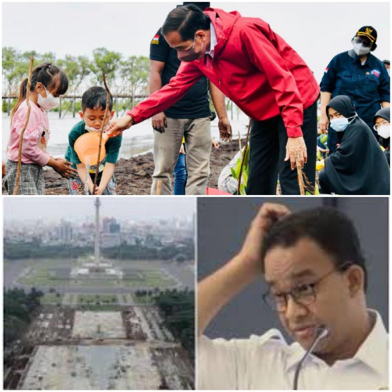 Cara Jokowi Ajari Anies Soal Kampanye Langit Biru, Telak Dan Elegan!