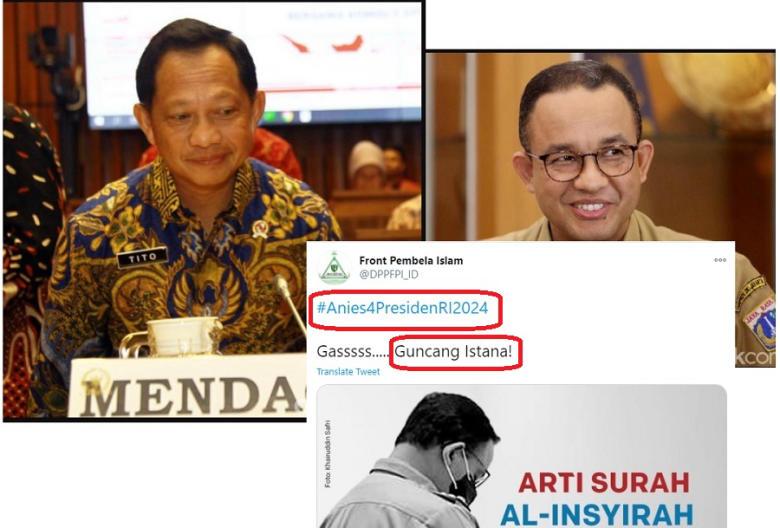 FPI Pasang Tagar Anies Presiden, Dijawab Telak Oleh Mendagri Tito, Apelo?