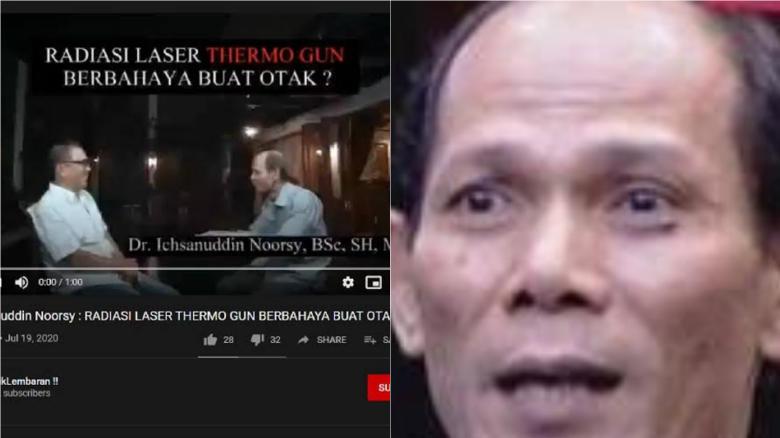 Sebut Thermogun Bahaya Buat Otak, Ichsanuddin Noorsy Otaknya Tipis?