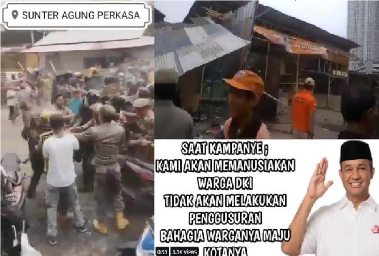 Malang Nasib Warga Sunter Yang Ketipu Janji Manis Anies, Kegusur. Eh Kegeser Juga.
