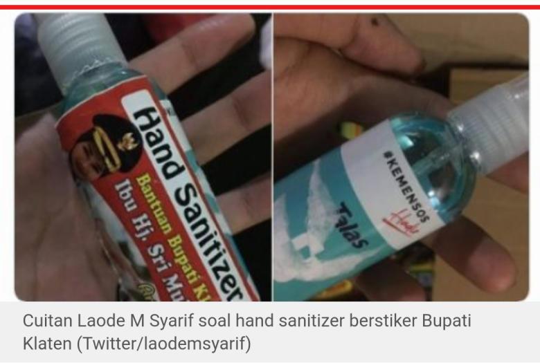 Bupati Klaten Sangat Tebal Muka Hand Sanitizer Jadi Alat Opini Indonesia Seword